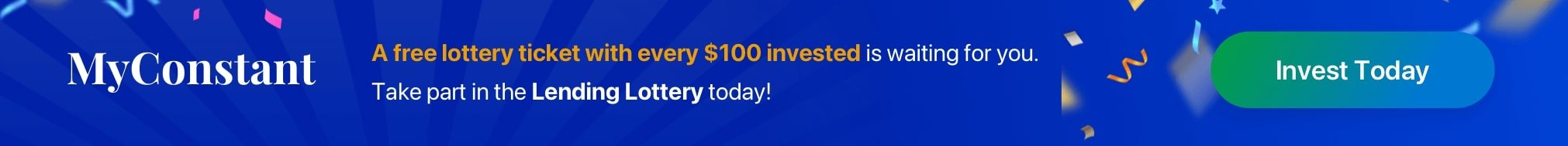 A free lottery ticket with every $100 invested