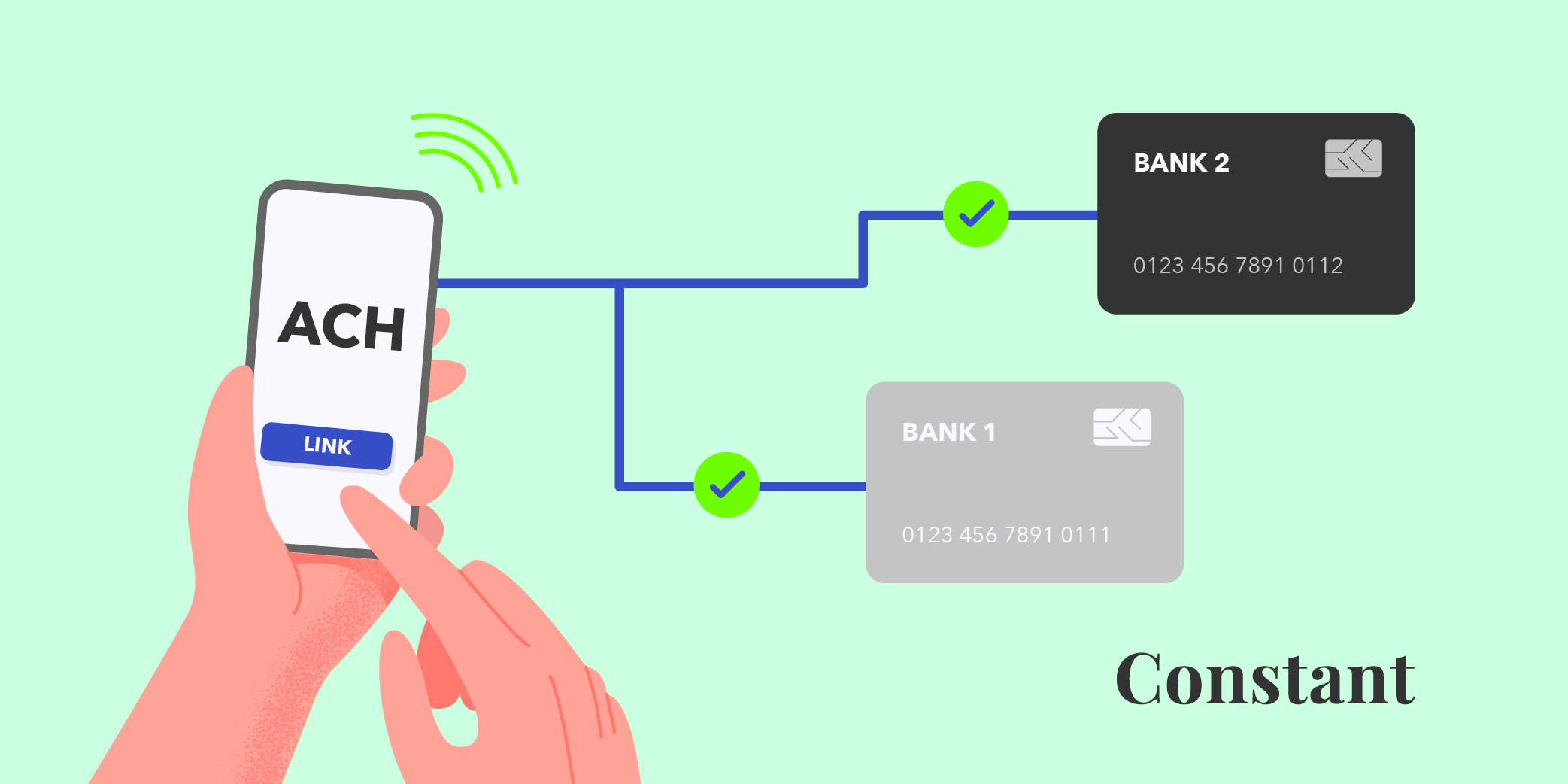 How to link your US bank account for easy, low-cost ACH transfers on MyConstant