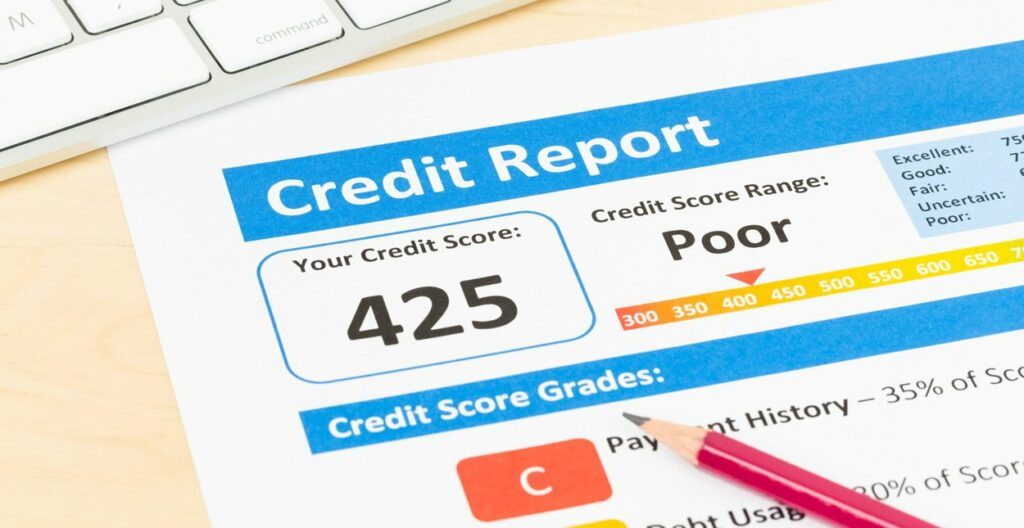 Bad Credit means trouble getting a loan