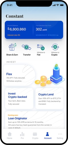 The MyConstant investment app is easy to use for beginners