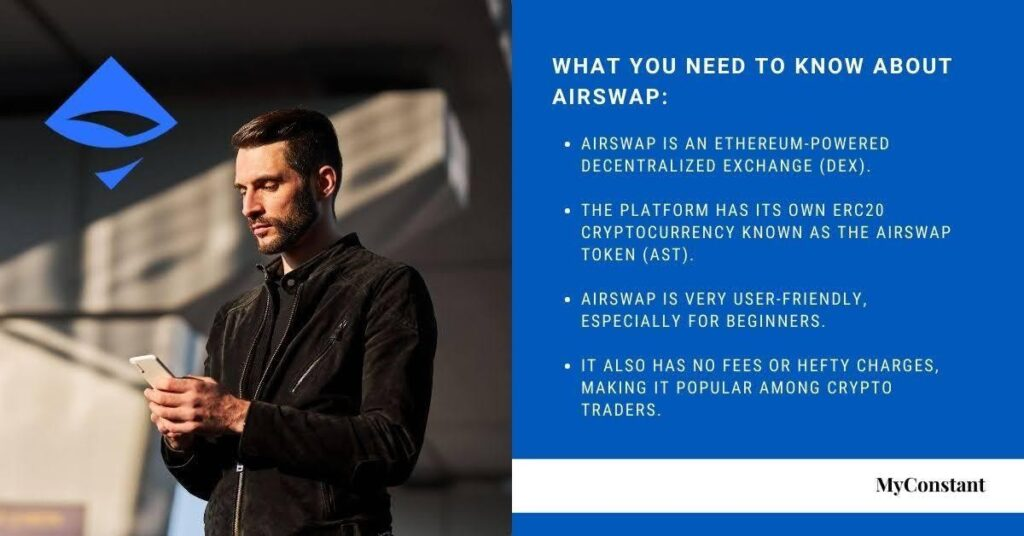 The AirSwap cryptocurrency also known as AST, or the AirSwap Token is used to incentivize market makers on the platform.